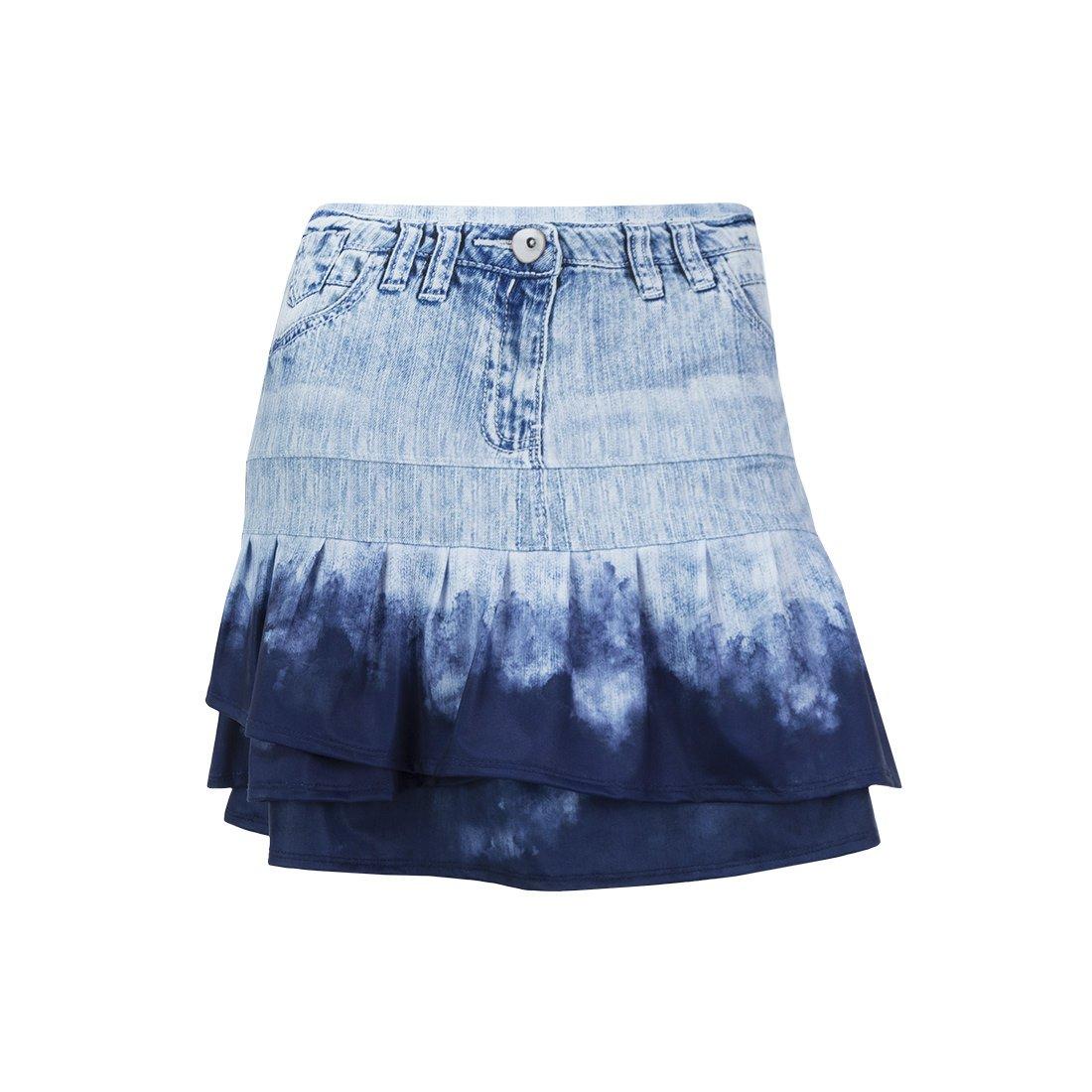 Lucky In Love American Love Story Long Dye Denim Skirt (Medium)