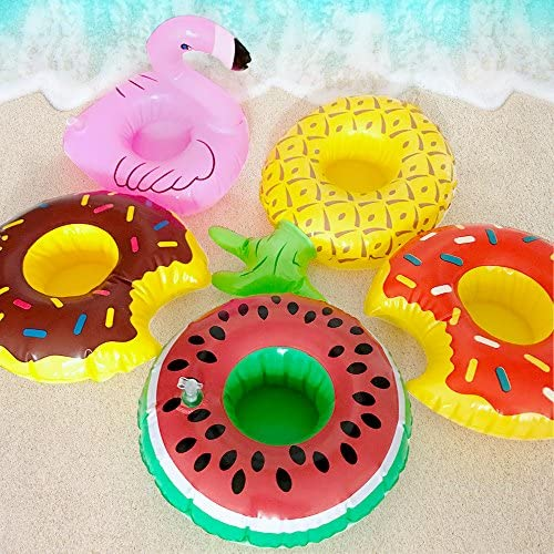 Details about  /10pcs Coconut Tree Coasters Floating Cup Holders for Beach Summer Seaside