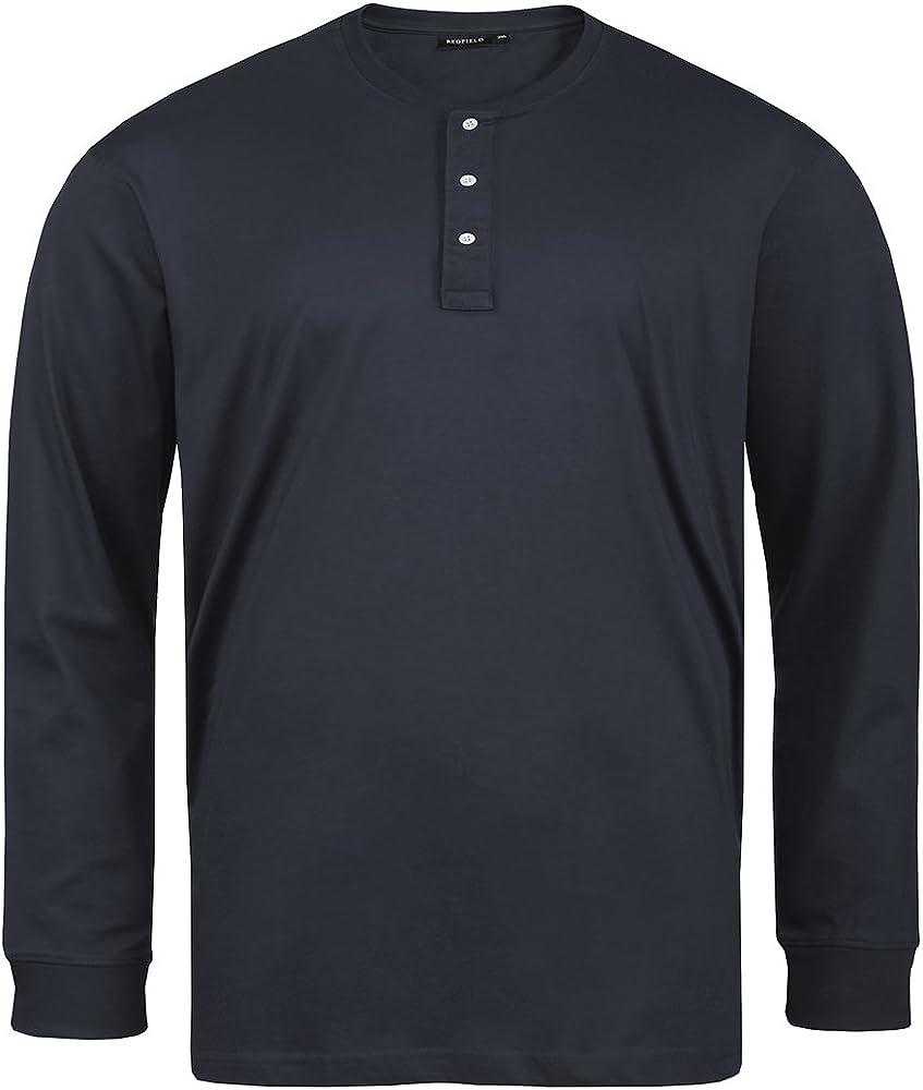 Redfield Serafino Camiseta Manga Larga Oversize Azul Marino, 2xl ...