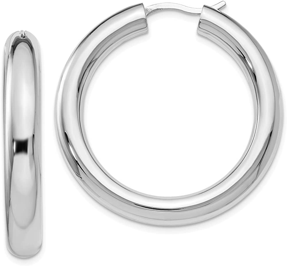 Top 10 Jewelry Gift Leslies Sterling Silver Rhodium-plated 5mm Tube Earrings