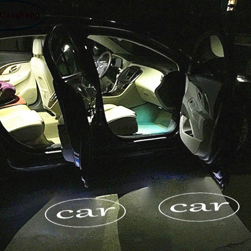 Hamkaw 2 Pcs Car Door Welcome Light Vehicle LED Logo Projector Ghost Shadow Welcome Lights