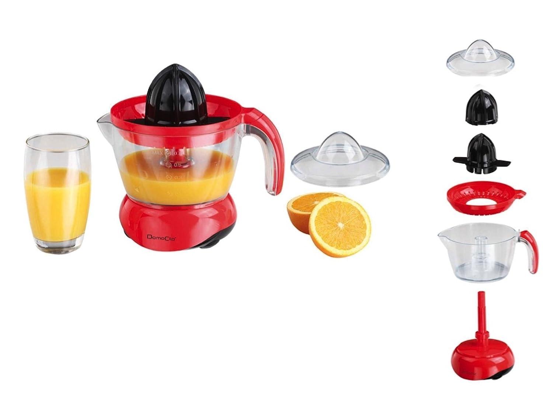 - Exprimidor eléctrico con boquilla naranjas de prensa Exprimidor (Depósito de licuadora, 700 ml, 2 Conos, Lucha desmontable, rojo): Amazon.es: Hogar