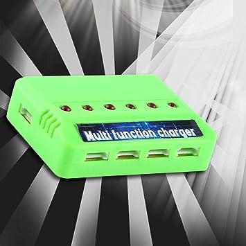 Cargador de bater/ía RC Cargador multifunci/ón 6 en 1 Compatible con bater/ía Li-Po Syma X5C Quadrotor Drone 3.7V