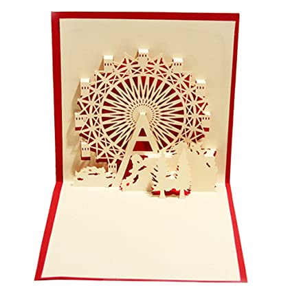 Buy Outsta Greeting Card Christmas Cards 3D Pop Up Valentine Lover Happy Birthday Anniversary J Online At Low Prices In India