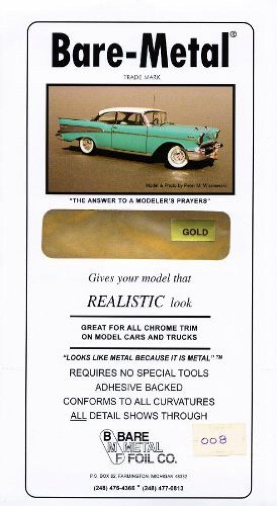 Bare Metal Foil Gold Model Car Truck Kit Adhesive