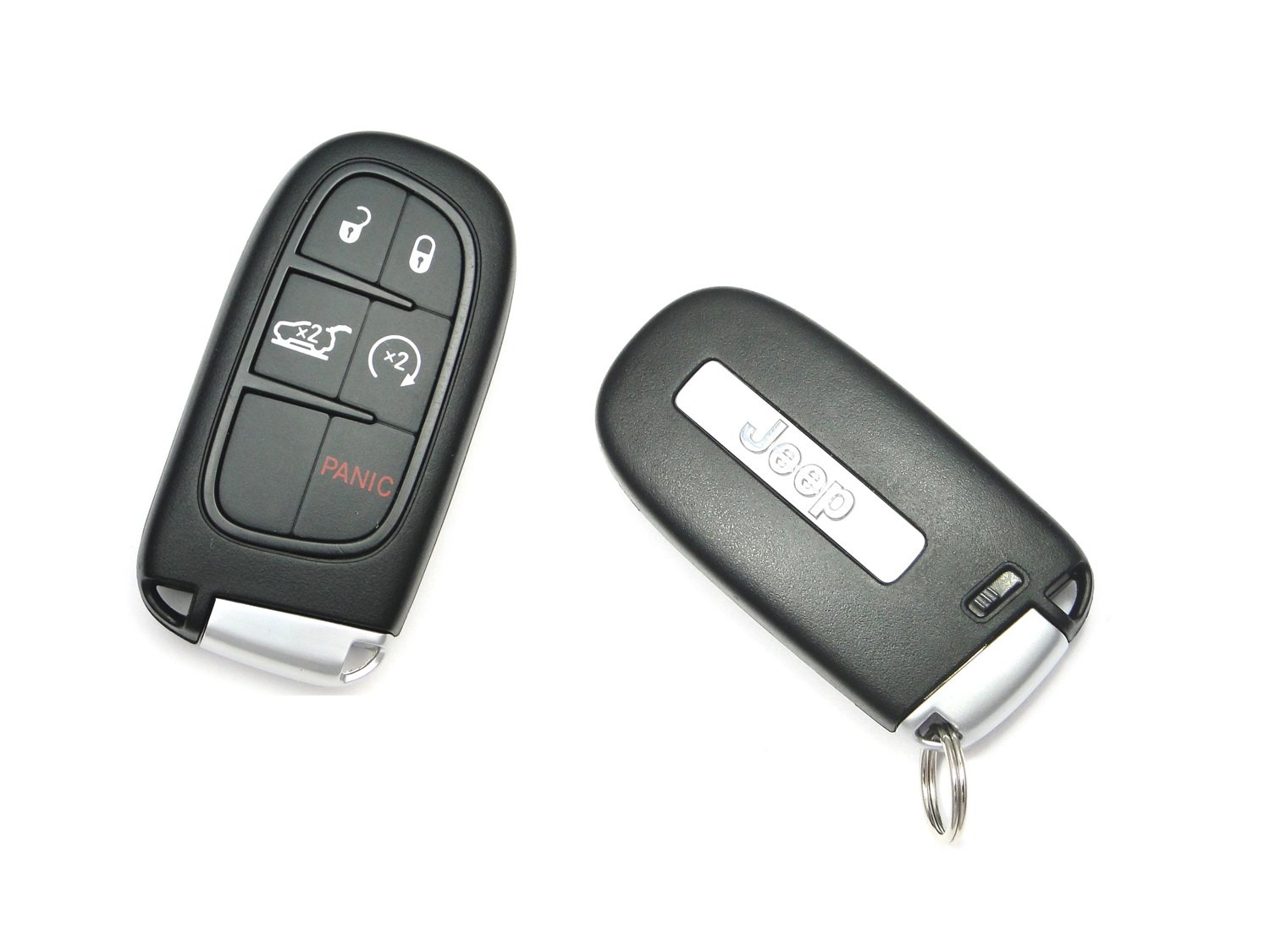 Exact Fit Glossy Sparkling Red Smart Key Fob Shell Cover for 2014-up Jeep Cherokee iJDMTOY 1