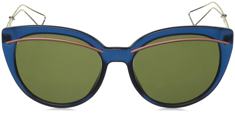 9826b7c88fdf Christian Dior Diorliner Sunglasses Blue Light Gold Green at Amazon Women s  Clothing store