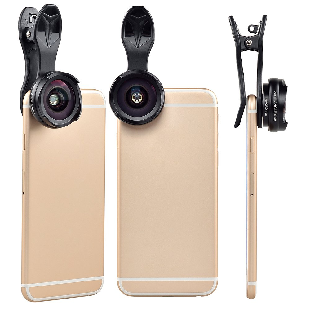 Camera Phone Lens Kit GUANZHI 0.6X Super Wide Angle Lens /& Macro Lens Clip on 2 in 1 Cell Phone Lens for iPhone Samsung Sony and Other Smart Phones No Distortion No Dark Circle iPhone X 8 7 8 Plus