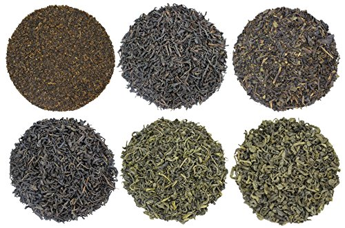 Boston Tea Party Tea Sampler, 6 Assorted Loose Leaf Tea Sampler, All The Historical Teas Thrown Over During The Boston Tea Party
