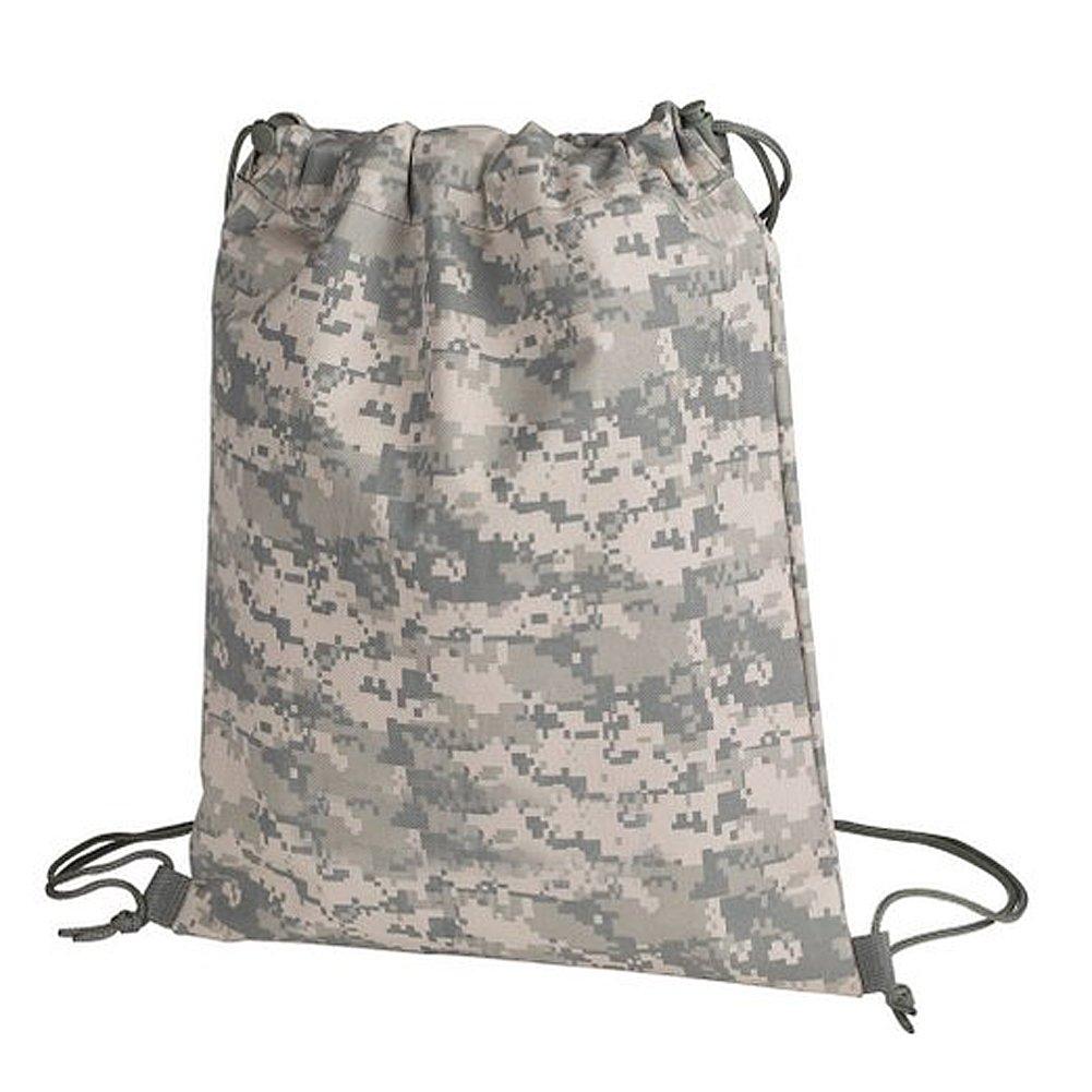 Hiking Sport Campping Digital Camo Drawstring Bag w/ Zipper