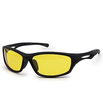 AMZTM Reducir El Resplandor Gafas De Conducción Nocturna De Hombre Irrompible TR90 Marco Deportes Gafas De