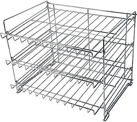 Amazon Com Wyndham House 3 Layer Wire Can Rack Kitchen Organizer