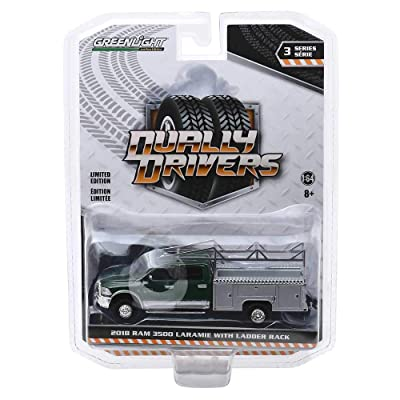 Greenlight Dually Drivers Series: 2020 Ram 3500 Laramie with Ladder Rack 1/64 Scale: Toys & Games