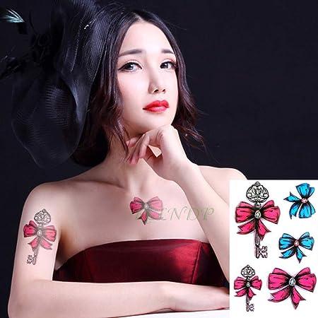ljmljm 4 Piezas Tatuaje Pegatina en la Cintura Rosa vides Tatuaje ...