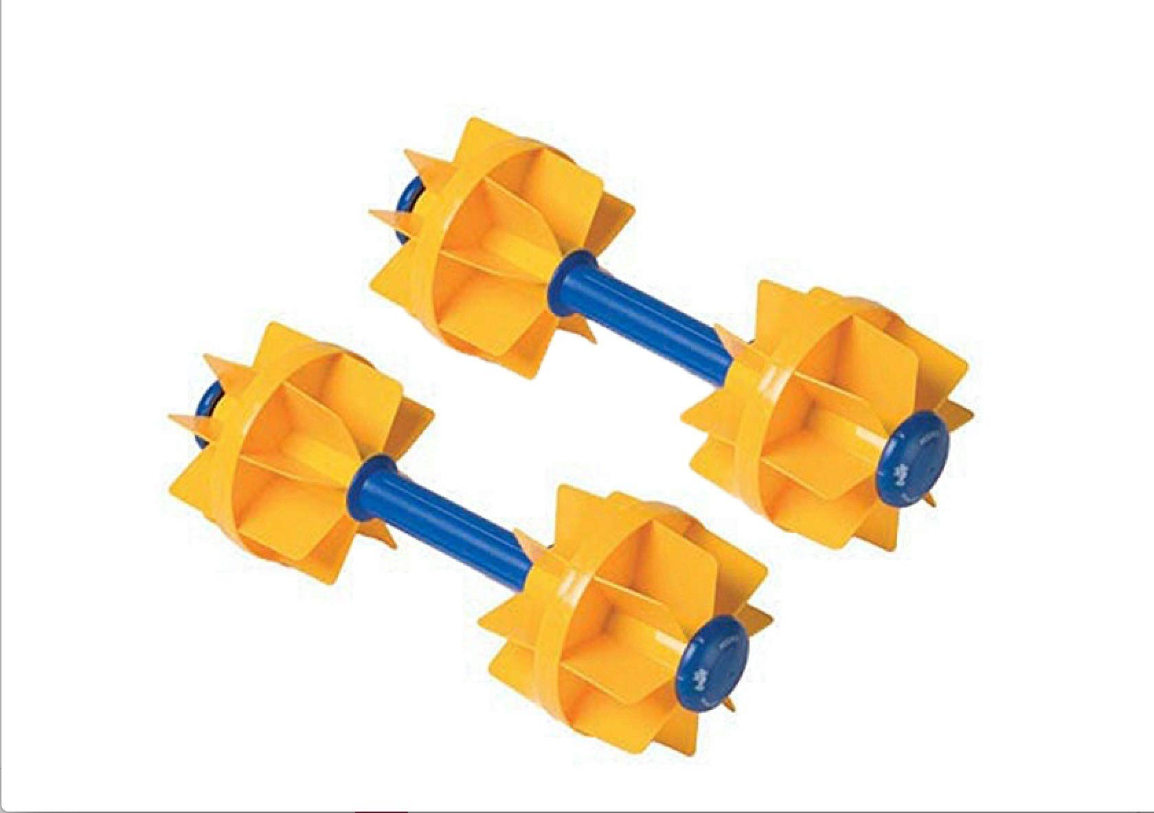 Kiefer Water Workout Dumbbells with 6-Inch Diameter Floats, Medium Resistance (1-Pair), Yellow by Kiefer