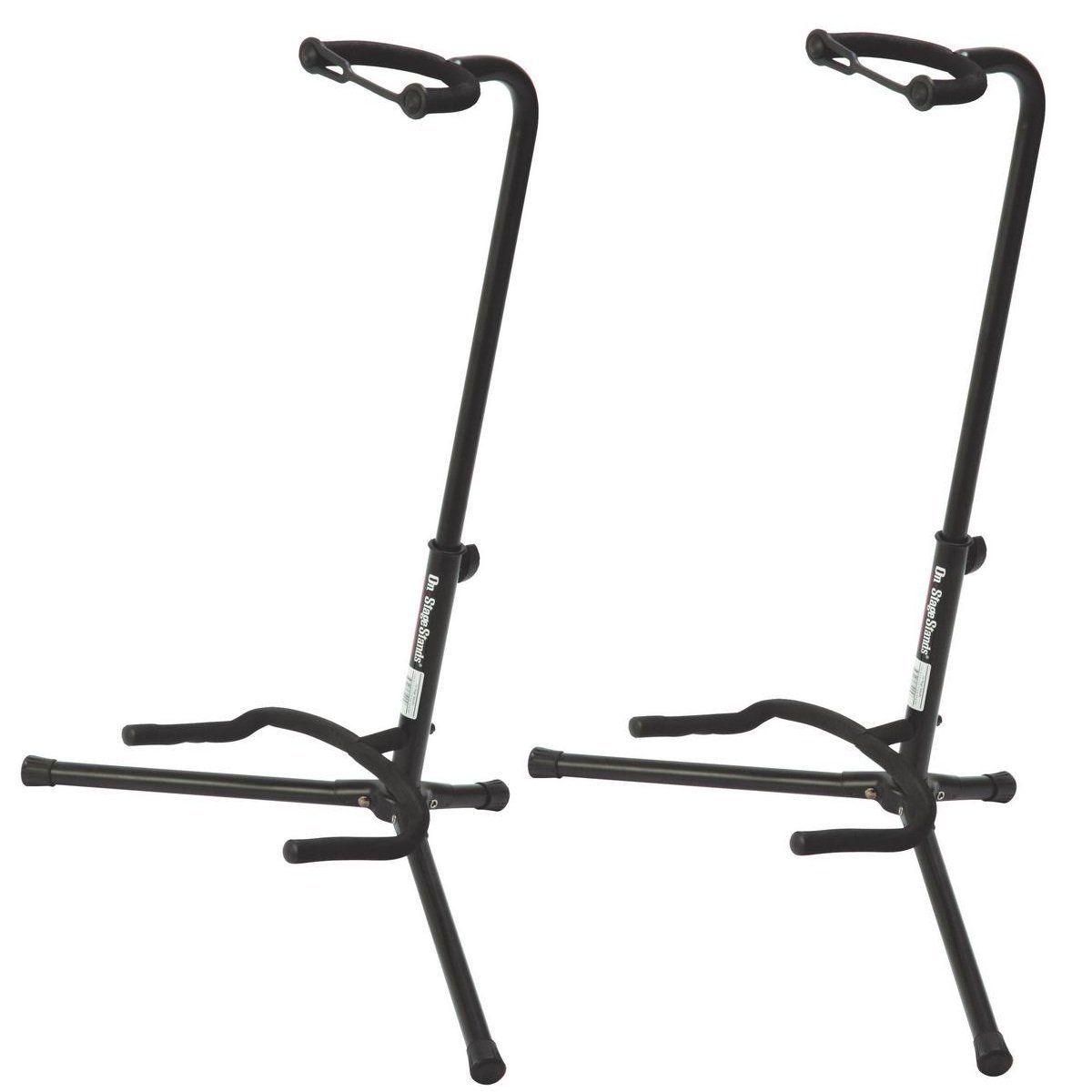 On Stage XCG4 Black Tripod Guitar Stand 3 Pack