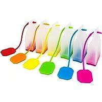 Wrapables Infusores de silicona reutilizables para hojas sueltas (juego de 6) filtros de té, talla única, rojo, naranja…