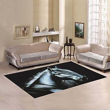 Amazon Com Artsadd Horse Area Rug Carpet 7 X5 Floor Rug For Living