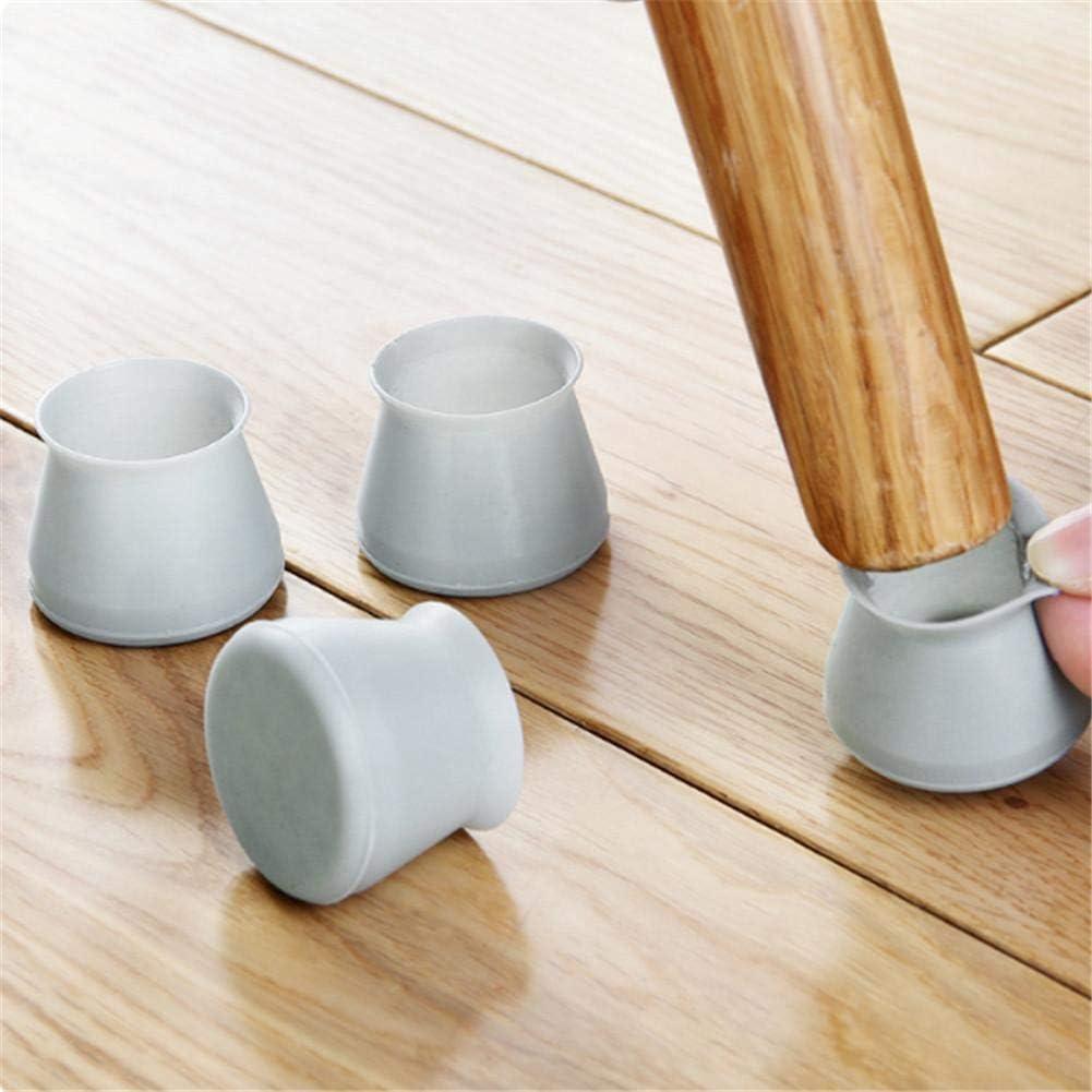 per mobili tavoli s 4 Pezzi Utili//Confezione Tappi per Gambe in Silicone per Sedie,Copertura Protettiva in Silicone per mobili Tappi per Gambe della Sedia Antiscivolo per Proteggere Il Pavimento