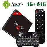 [2018 NEW ♥ 4G+64G TV BOX] EstgoSZ Android 7.1 RK3328 Quad-Core 64bit Ultra HD Smart set-top box ,Supporta 2,4G & 5G Dual Wifi / BT4.0 /3D / 4K / USB 3.0 /wireless Tastiera retroilluminata