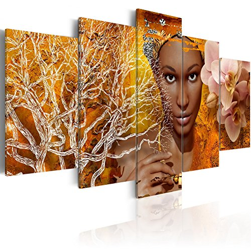Konda Art African Sexy Woman Painting Modern Abstract 5 Piece Canvas Art for Wall Home Decor Living room Picture Large Artworks Framed and Ready to Hang (Tales from Africa, 60''x 30'') by Konda Art