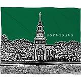 Deny Designs Bird Ave Dartmouth College Green Fleece Throw Blanket, 50 x 60