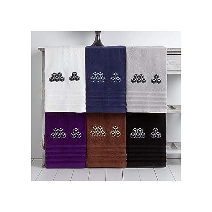 Barceló Hogar 05080100042 Juego 3 toallas para bidé, lavabo y ducha, motivo bordadas,
