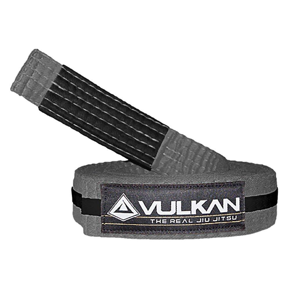 Vulkan Fight Company Brazilian Jiu Jitsu, BJJ Kids Belt for Martial Arts Sports, Grey Black, M2 by Vulkan