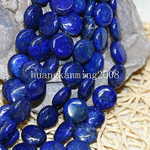 - FidgetKute Natural Stone Lapis Lazuli 4 Shape Coin Barrel Heart Loose Beads 15