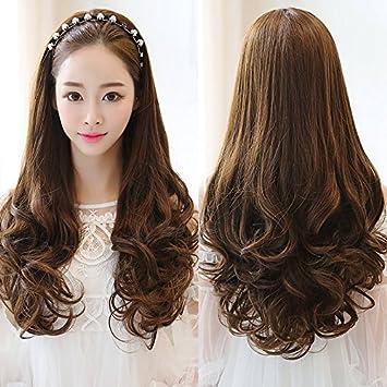 Amazon Com Ms Long Curly Hair Wig Liu Qi Wang Yu Tease Wig Corn