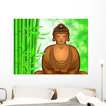 Mural 3 x Sizes Decorative Wall Art Sticker Decal BUDDHA and BAMBOO
