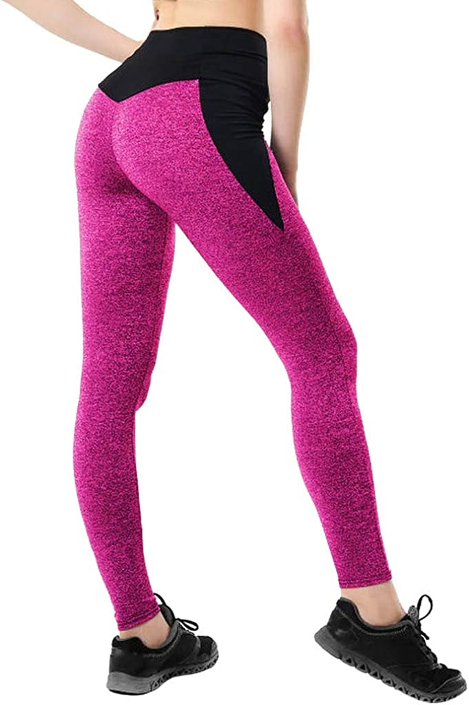 POPNINGKS 2020 New Womens Casual Athletic Pants Fashion Workout Leggings Fitness Gym Sports Running Yoga Athletic Pants