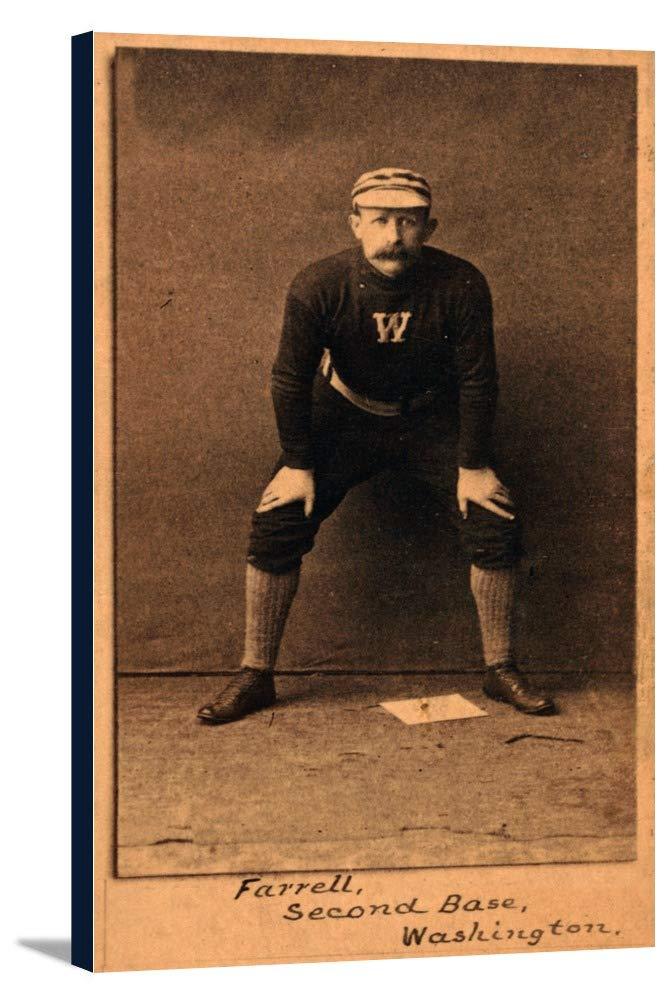 ワシントンStatesmen – ジャックFarrell – 野球カード 20 1/2 x 36 Gallery Canvas LANT-3P-SC-23296-24x36 20 1/2 x 36 Gallery Canvas  B0184A9UKS