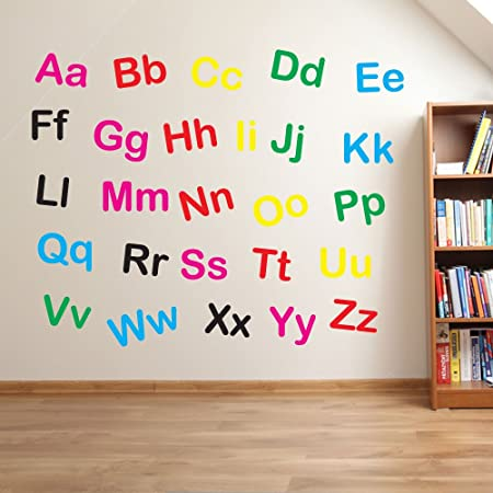 Alphabet letters kids nursery play room wall decorations window stickers wall decor wall stickers wall art