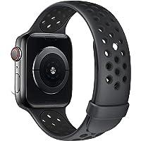Fengyiyuda Correa de Compatible con Apple Watch 38mm 40mm 42mm 44mm, Correa de Silicona Suave de Repuesto Compatible…