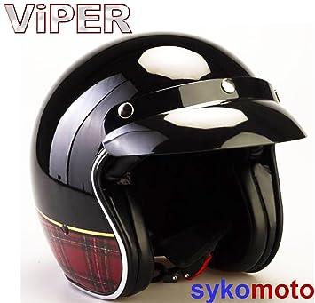 Viper RS-04 Motocicleta Casco Abierto Nuevo Diseño Piloto Cruiser Retro Urban Vintage Chopper Casco