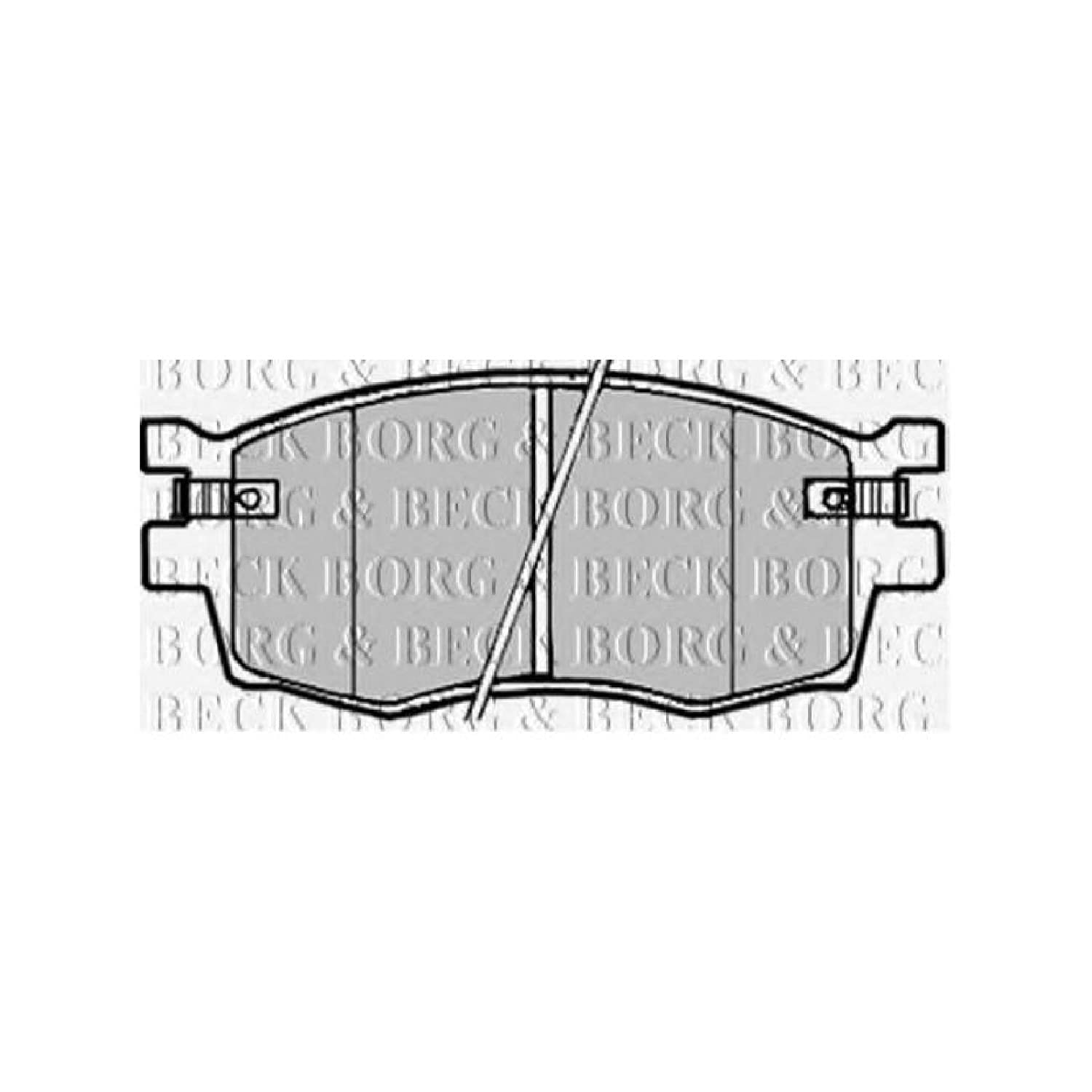 Borg & Beck BBP1923 Front Brake Pads - Includes Wear Indicators/Leads (Mando) First Line