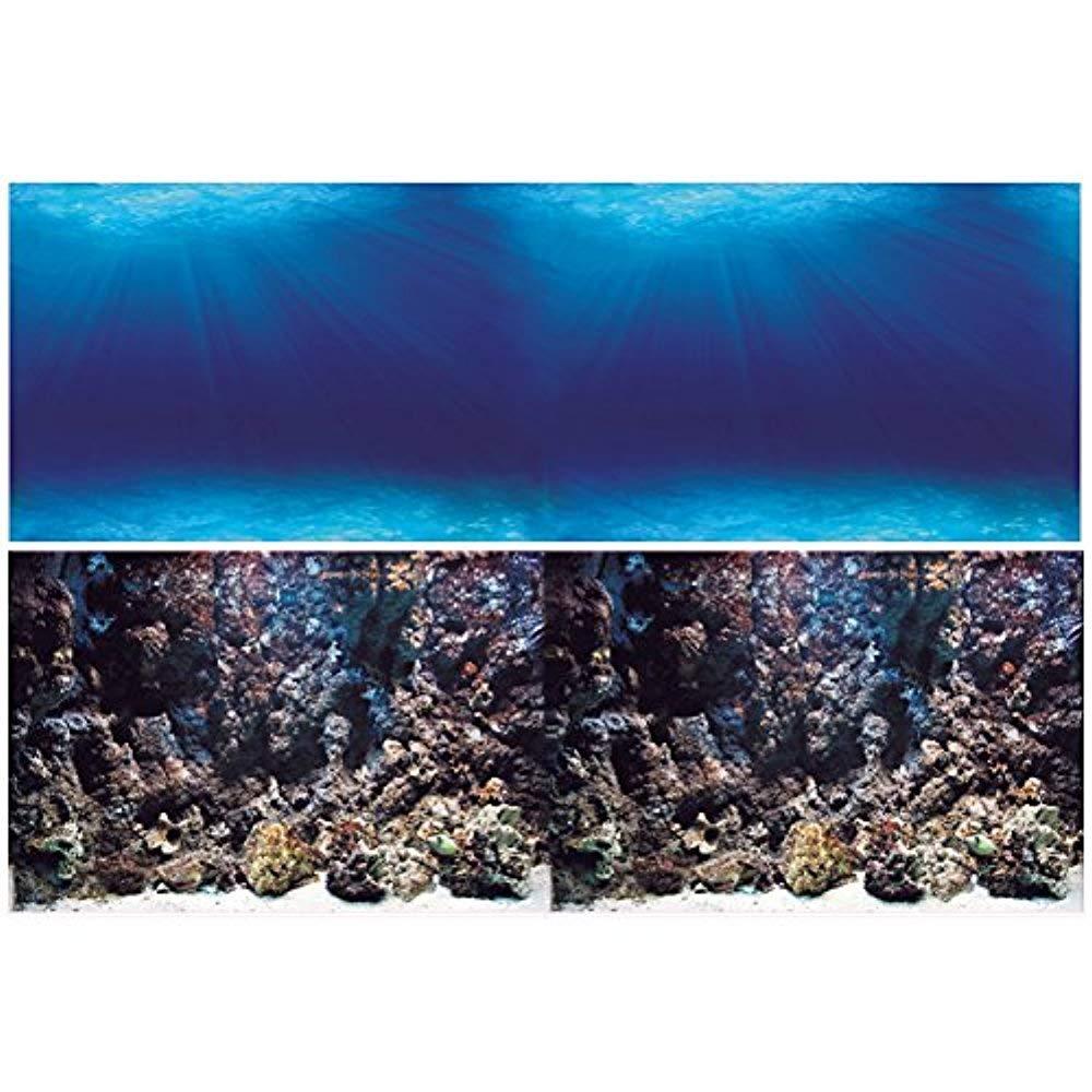 Vepotek Aquarium Background Double Sides Deep Seabed//Coral Rock