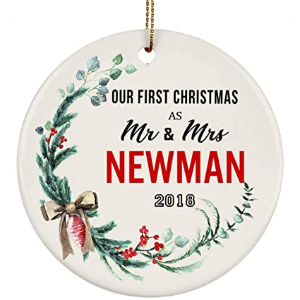Newman Christmas Trees.Amazon Com Newlyweds Christmas Ornament Tree Our First