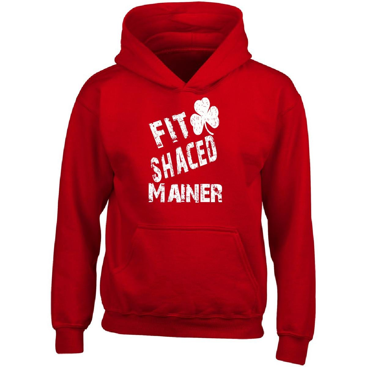 Mainer Fit Shaced Drunk St Patricks Day Adult Hoodie