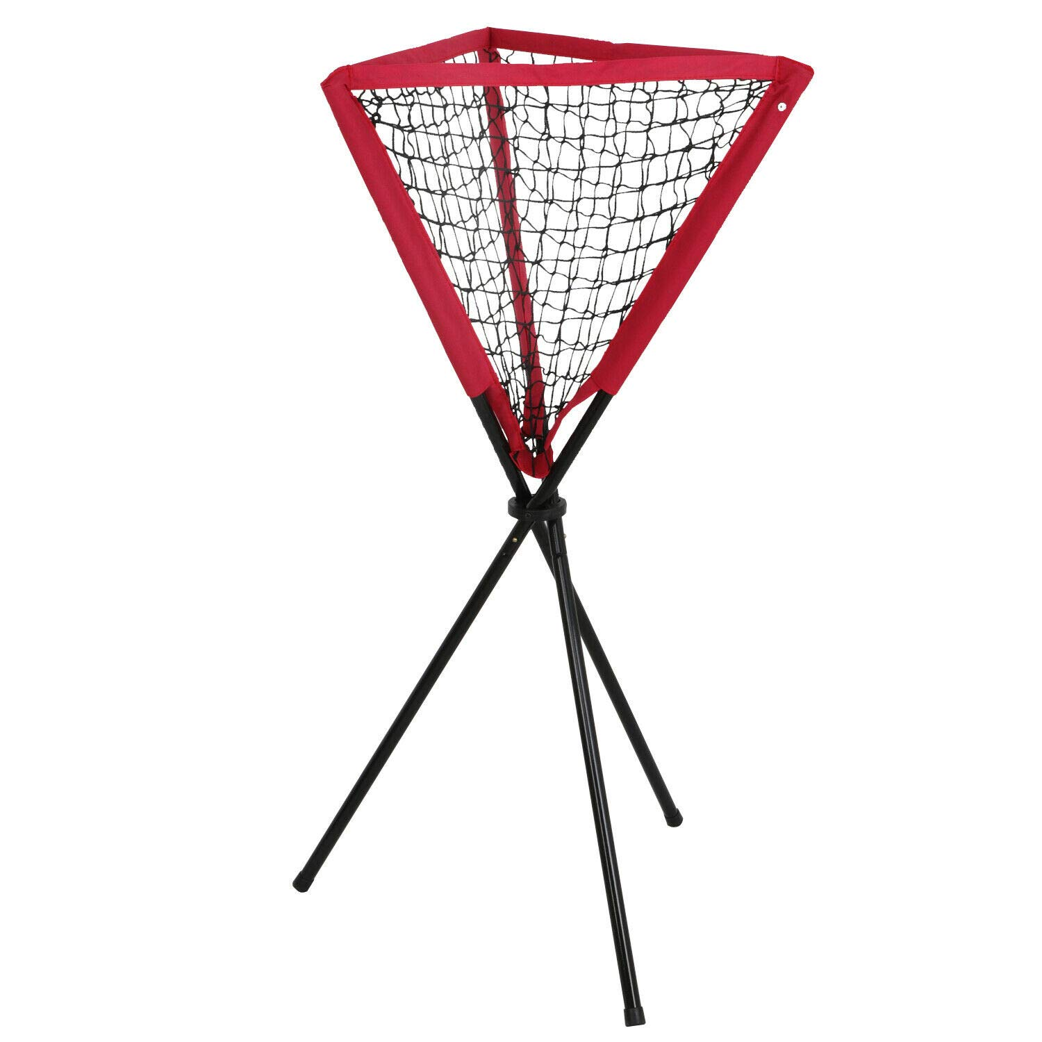 Red and Black Portable Ball Caddy Tripod Stand Baseball Softball Hitting Trainning Aids W/Bag by Blossom Store