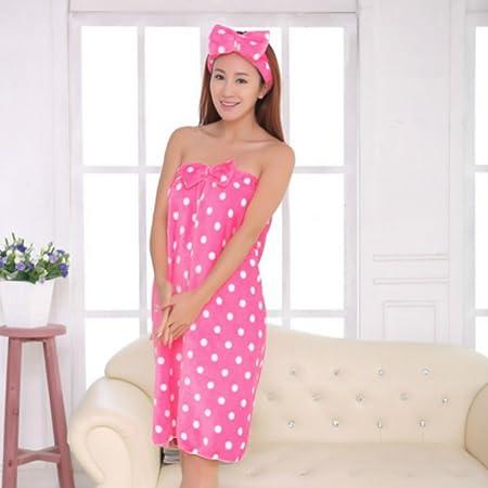 d8867e2595 Moresave Womens Microfiber Bow Headband + Bath Towel Shower Bath   Amazon.co.uk  Kitchen   Home