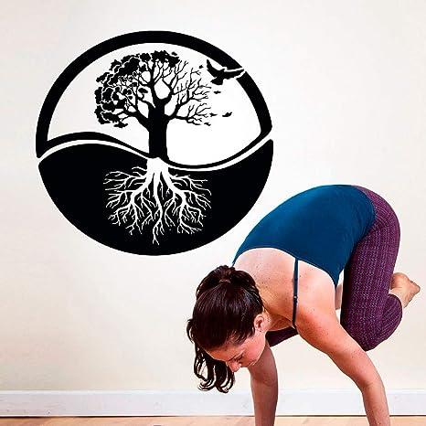 Tree of Life Wall Art Sticker Yoga Studio Wallpaper ...