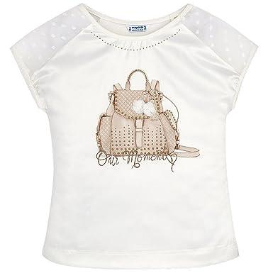 Mayoral - Mädchen T-Shirt Kurzarm festlich Rucksack. braun - 6002. Größe 164 f5b71de782