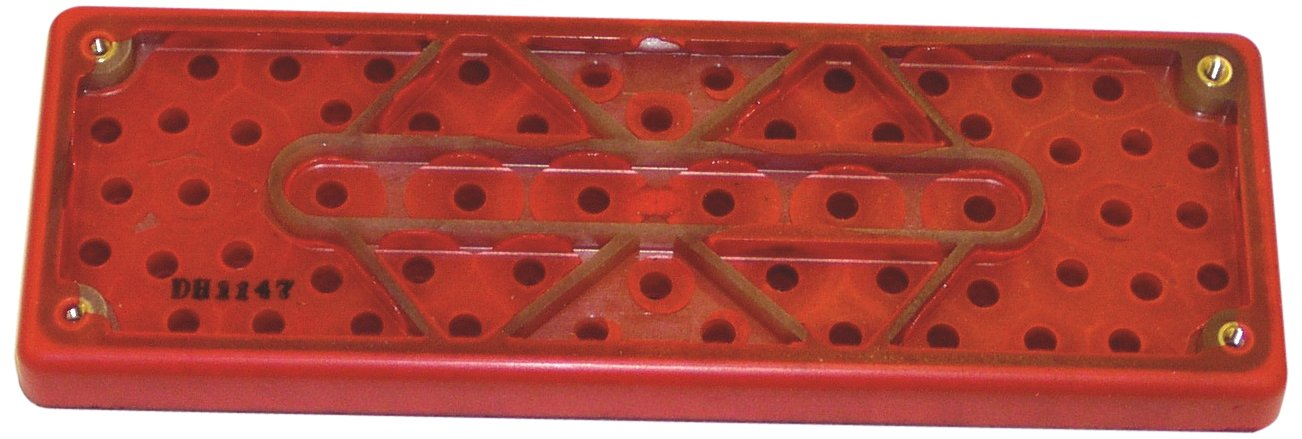 3M Hookit Clean Sanding Pad 28531, 70mm Length x 198mm Width, 12.7mm Thick, 33 Holes, Red Foam (Pack of 1) by Cubitron
