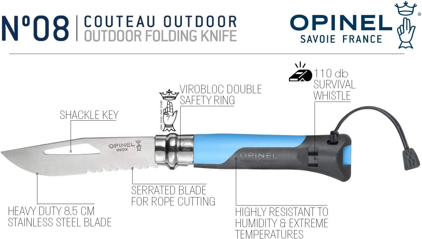 Opinel Taschenmesser verschiedene Größen Virobloc Carbon EDC Messer Freizeit