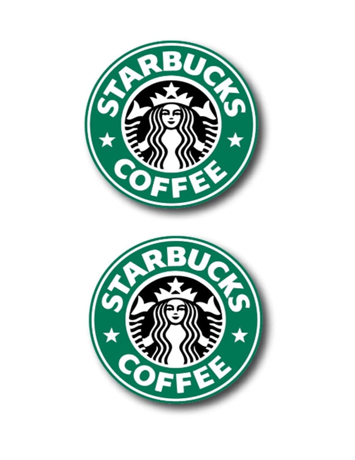 Amazon com 3 starbucks logo decal sticker for case car laptop phone bumper etc computers accessories