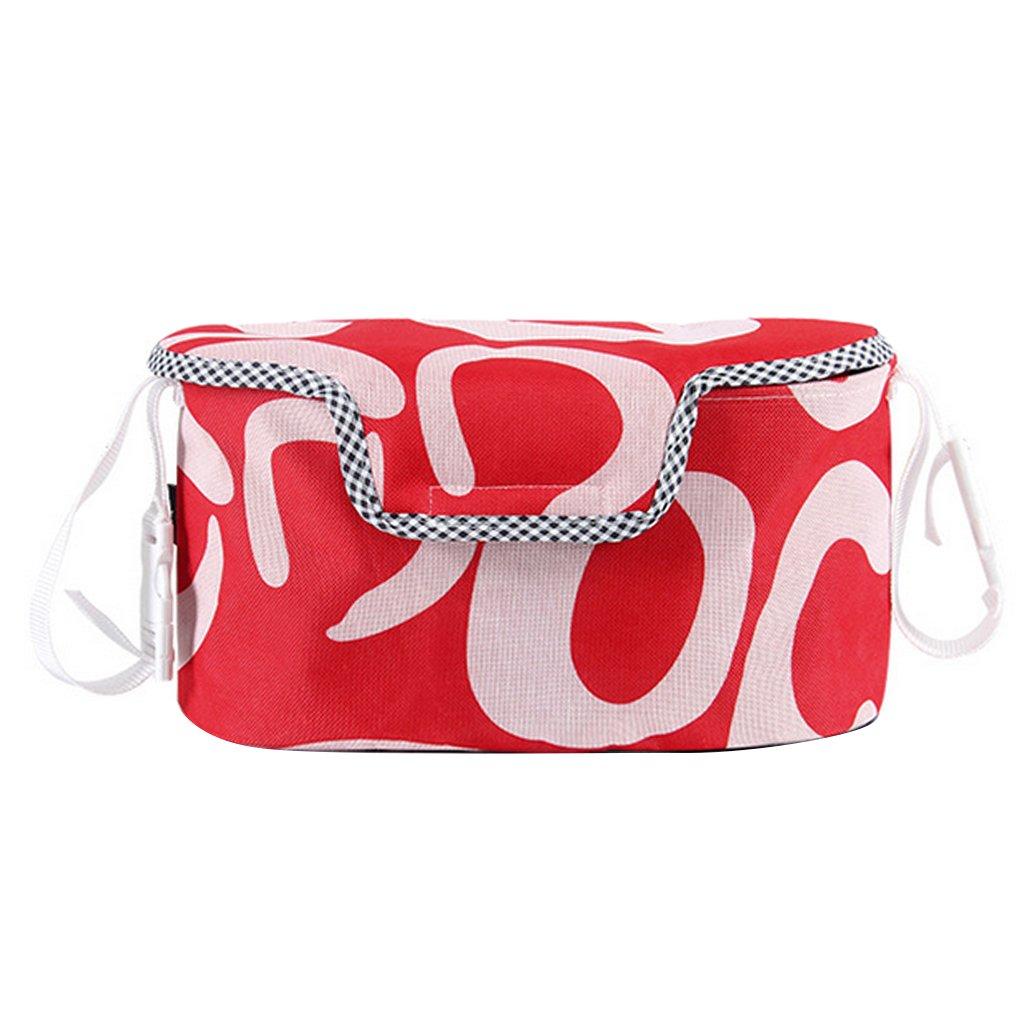 MagiDeal Baby Pram Stroller Pushchair Buggy Storage Bag Organizer Babys Stroller Bag Pouch Safety Storage Accessories - Red full cover STK0155005875