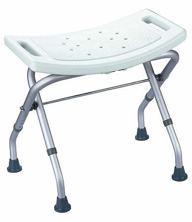 agingcare robusto sgabello per doccia e vasca da bagno pieghevole e regolabile in altezza