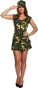 Disfraz Sexy De Mujer Militar (Camuflaje): Amazon.es: Juguetes y ...